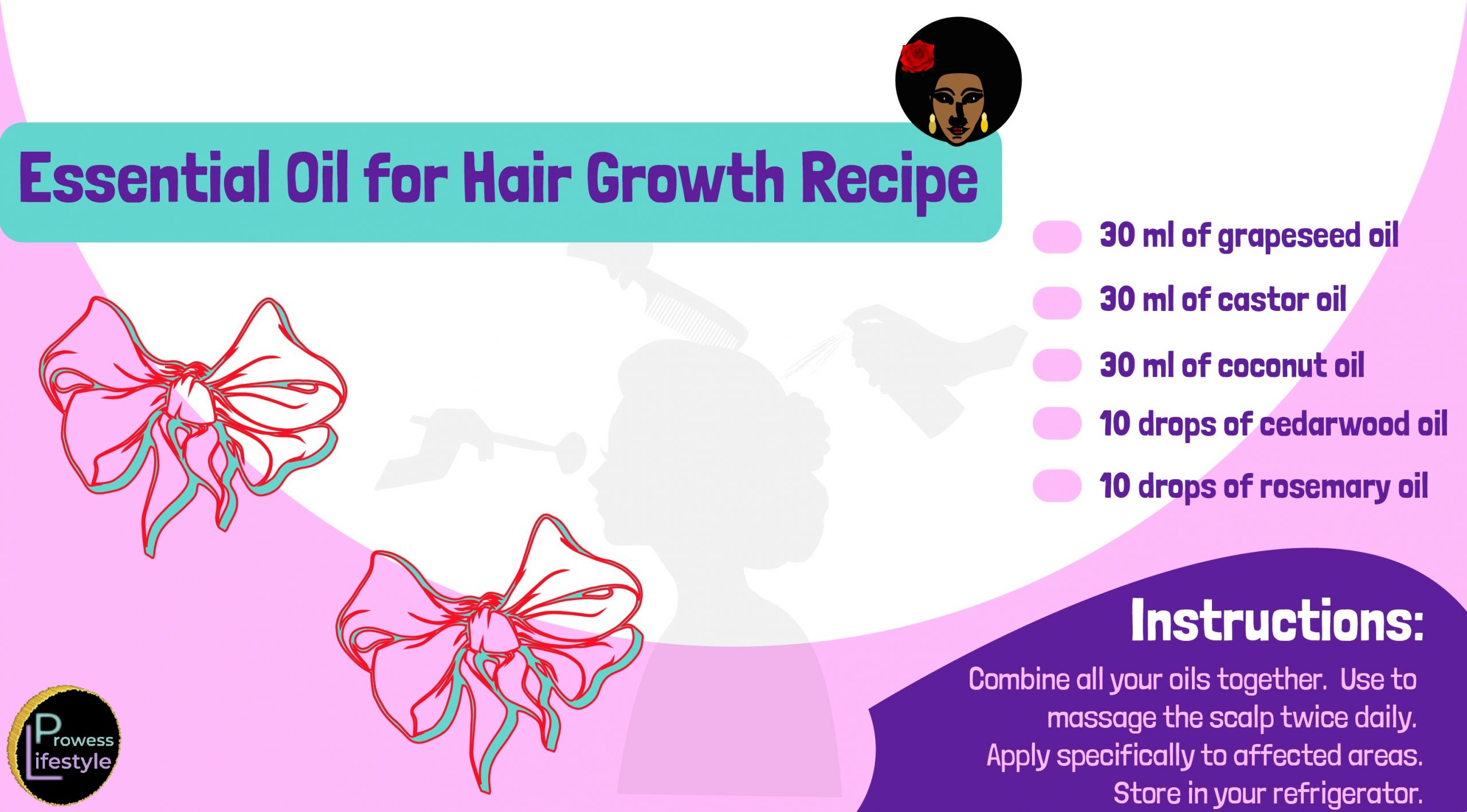 Rosemary and cedarwood hair growth recipe