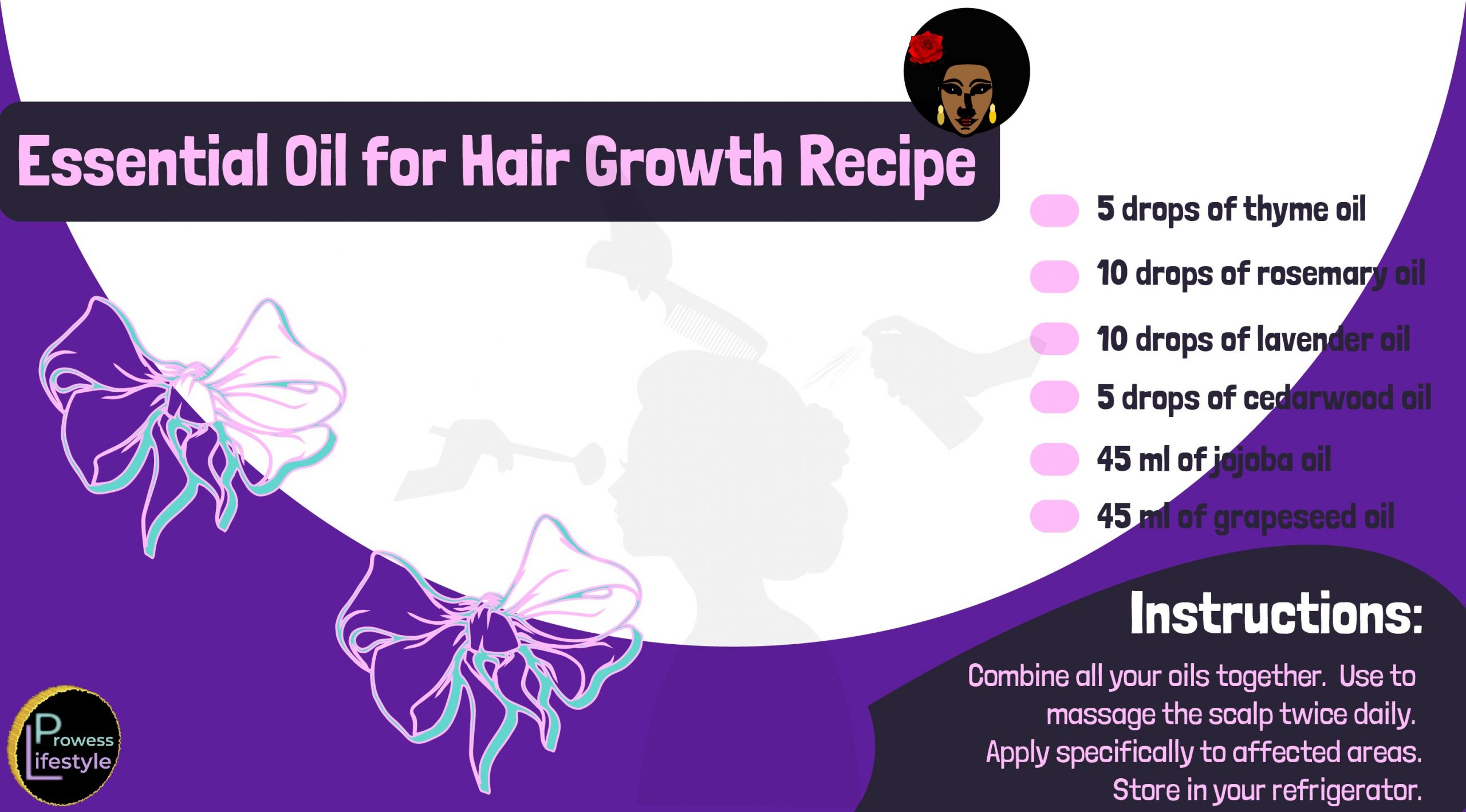 thyme and rosemary essential oil recipe for hair growth